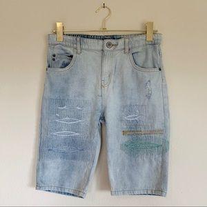 Zara Boys Denim Shorts Light Wash Size 11 - 12